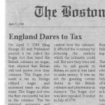 England Dares to Tax