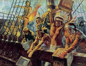 boston tea party as indiansuner
